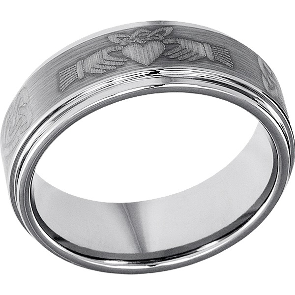 Titan Unique Celtic Brushed Claddagh Rings Forever Metals