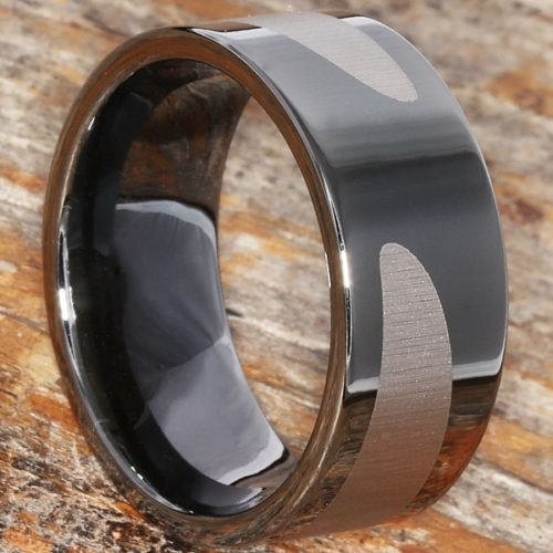 Trojan Gunmetal Black Ice Unique Rings