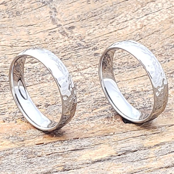 tungsten-ultra-polished-hammered-rings
