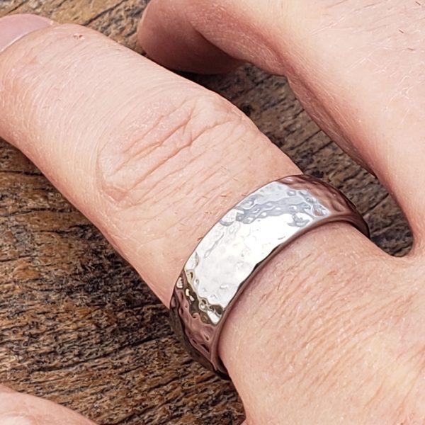 ultra-polish-hammered-rings