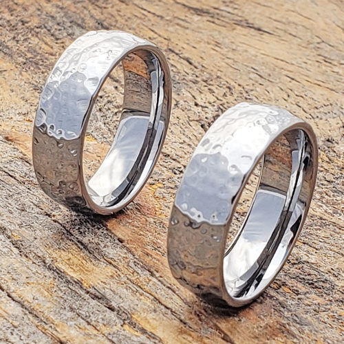 Ultra Polished Hammered Rings