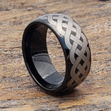 unique black rope celtic rings