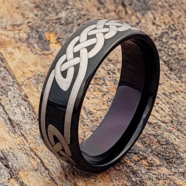 viking-black-knot-7mm-carbide-celtic-rings