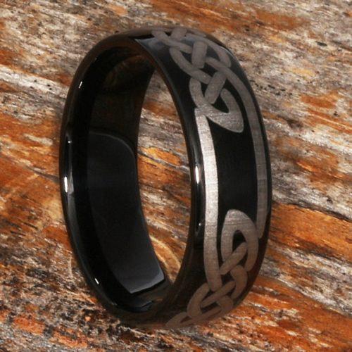 Viking Black Knot Carbide Celtic Rings