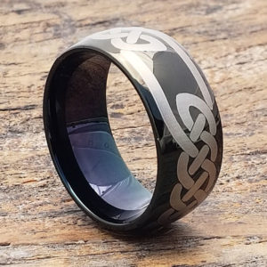 viking black knotwork celtic rings