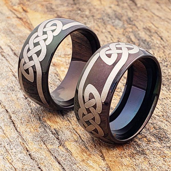 viking-black-knotwork-celtic-rings