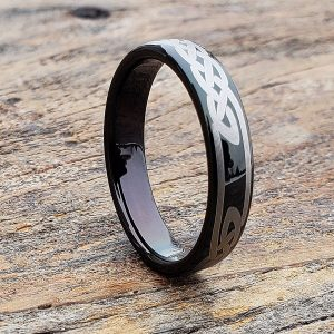 viking-black-tungsten-knot-celtic-rings
