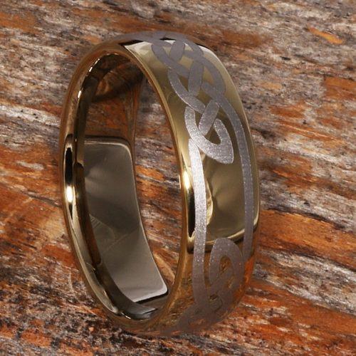 Viking Gold Knot Celtic Rings