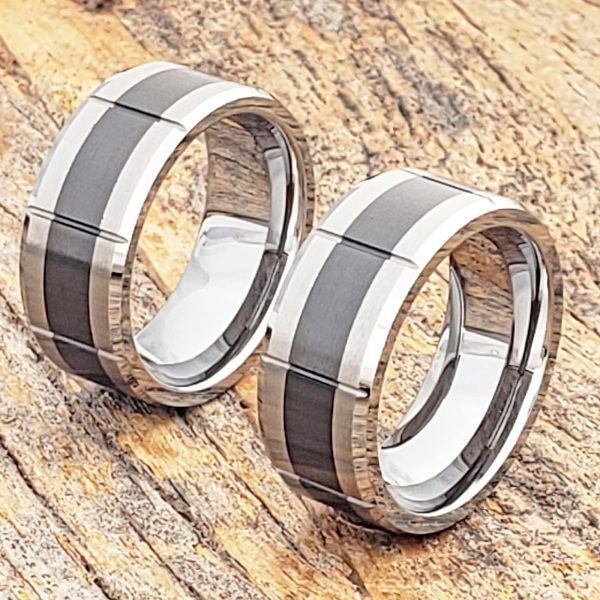 virgo-brushed-black-inlay-ceramic-rings