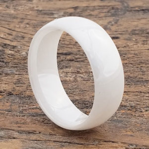 white ceramic rings