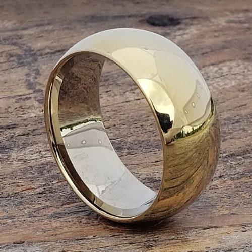 Eclipse Groomsmen Gold Tungsten Rings