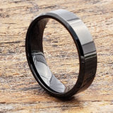 6mm orion black anniversary womens tungsten rings