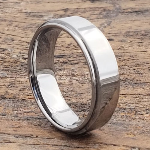 Obsession Step Down Edges Tungsten Wedding Bands