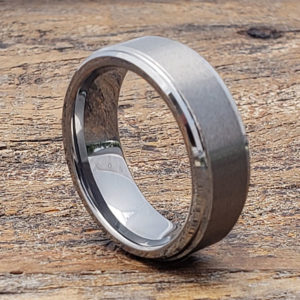 7mm pluto satin brushed womens tungsten rings