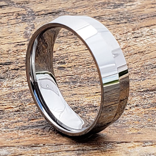 Stealth Polished Peaked Womens Tungsten Rings