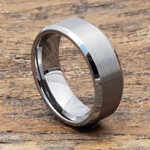 8mm compromise tungsten wedding bands