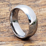8mm eclipse polished tungsten wedding bands