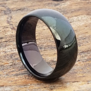 9mm eclipse marriage black tungsten rings