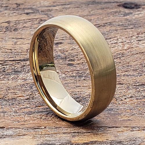 Bellatrix Antique Brushed Gold Tungsten Rings