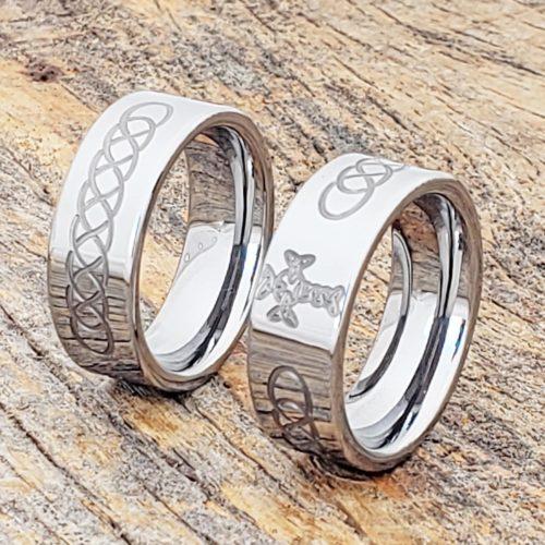 Aphrodite Carved Cross Rings