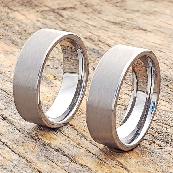 athens-flat-florentine-brushed-tungsten-wedding-bands