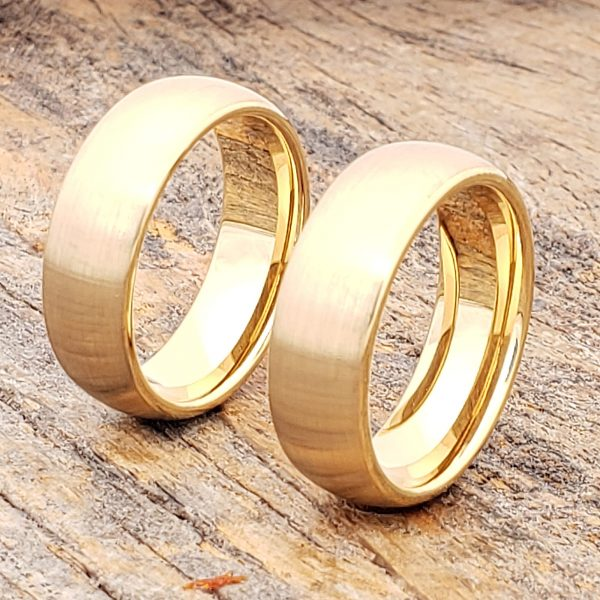 bellatrix-antique-brushed-gold-tungsten-rings