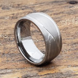 brushed mens carved rings