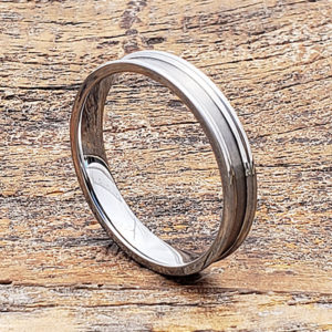 brushed womens tungsten rings