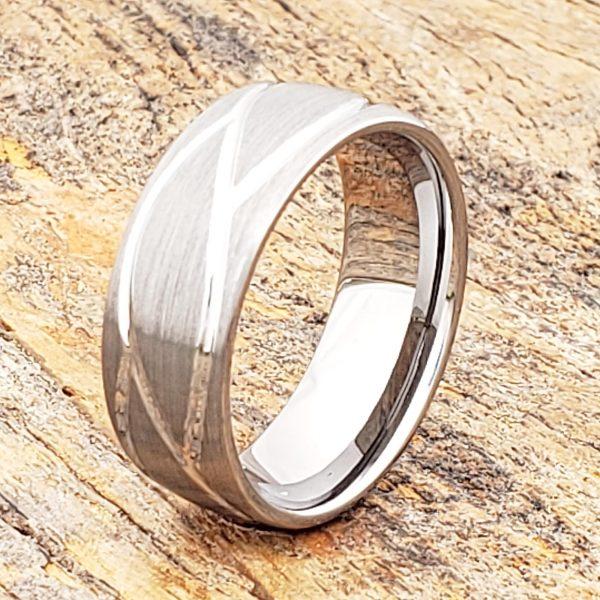 caesar-mens-brushed-carved-8mm-rings