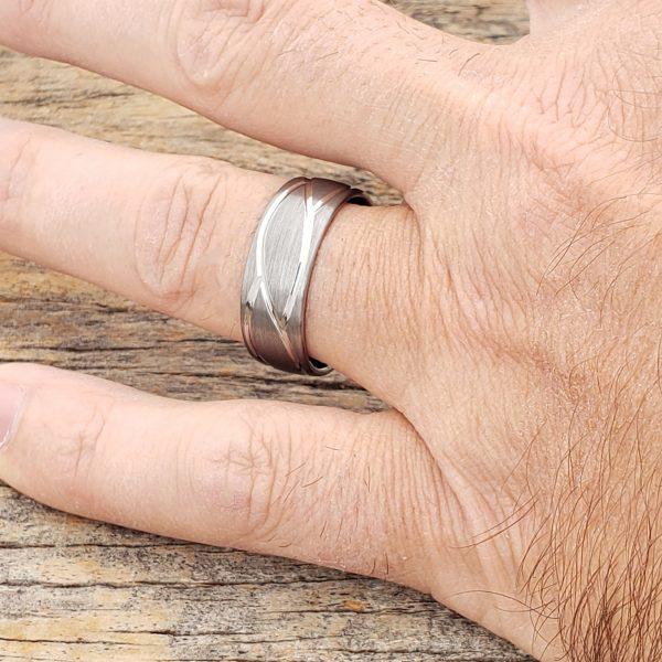 caesar-mens-brushed-carved-rings-8mm
