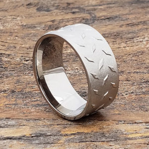 carved titanium rings