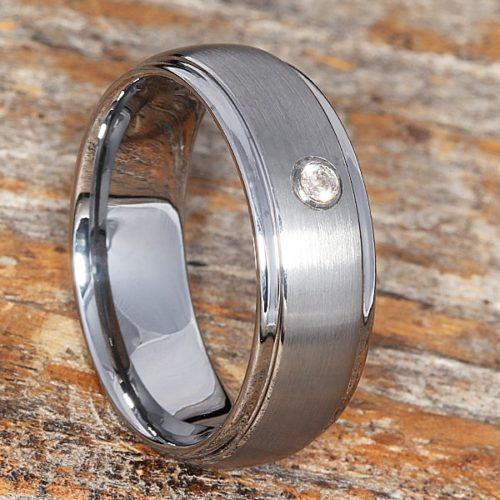 Classique Solitaire Gemstone Mens Diamond Rings