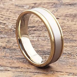 dagda two tone womens tungsten rings 3
