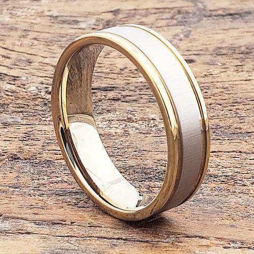 Dagda Two Tone Womens Tungsten Rings