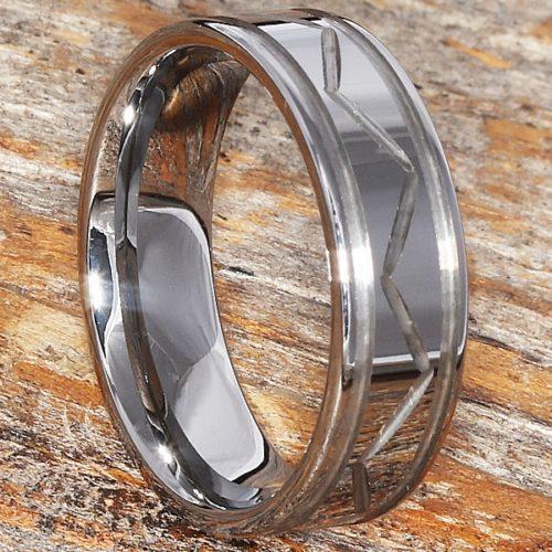 Diadem Mens Carved Rings