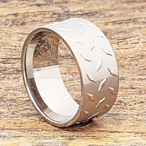 diamond-plate-carved-10mm-titanium-rings