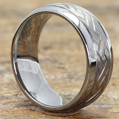 Draco Mens Two Tone Carved Rings