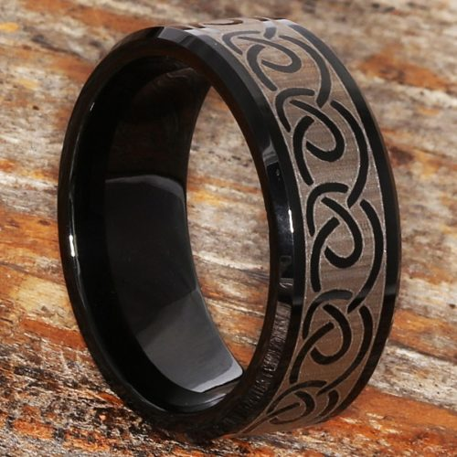Dublin Black Infinity Rings