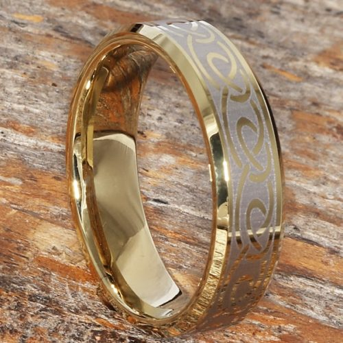 Dublin Gold Knot Infinity Rings