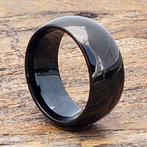Eclipse Polished Black Tungsten Rings
