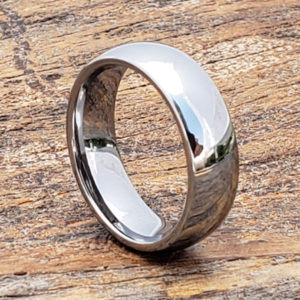 eclipse polished tungsten rings