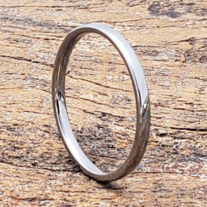 eclipse silver thin stackable rings