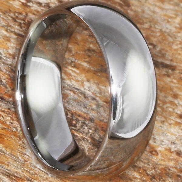 Eclipse Polished Tungsten Wedding Bands