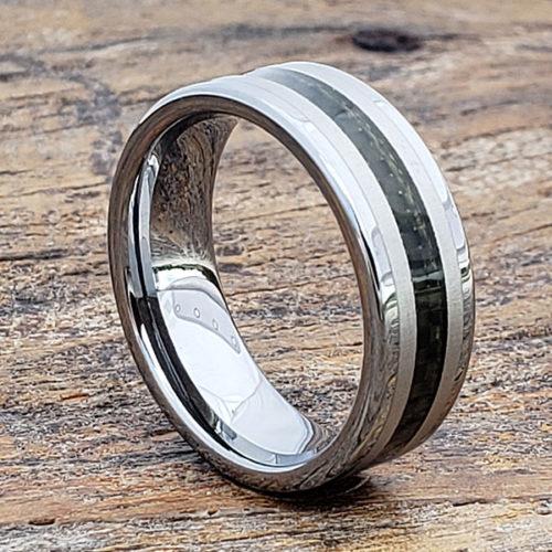 Elite Inlay Black Carbon Fiber Rings