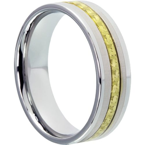 Elite Inlay Gold Carbon Fiber Rings