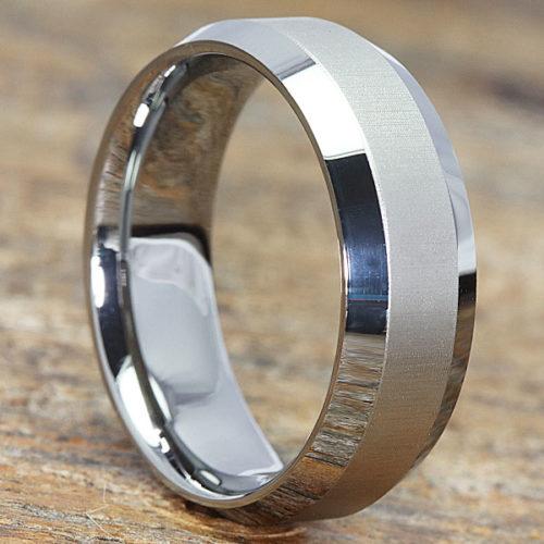 Eternal Laser Engraved Tungsten Wedding Bands