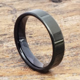 europa black pipe cut tungsten rings