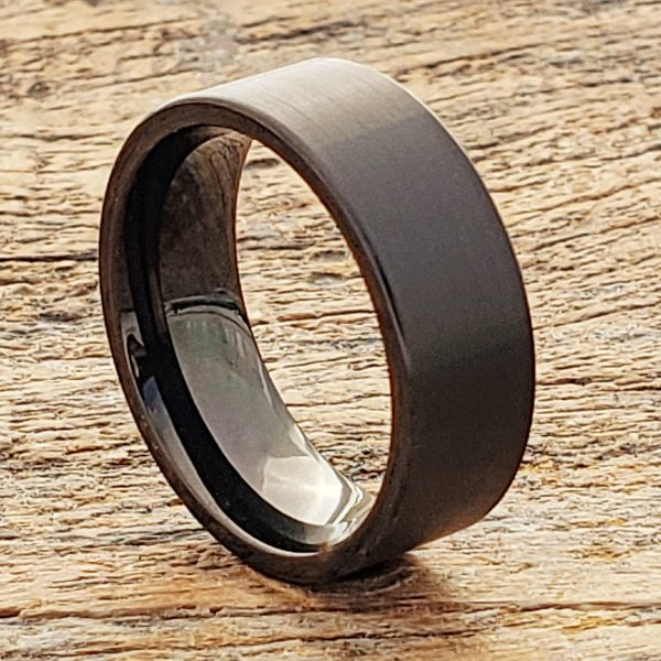 europa-flat-8mm-brushed-black-tungsten-rings