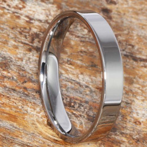 Europa Flat Womens Bridal Tungsten Rings