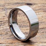 europa flat tungsten rings